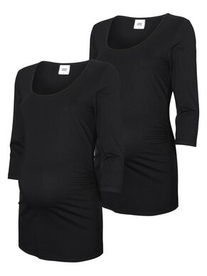 2-PACK BASIC MATERNITY TOP, 3/4 SLEEVED