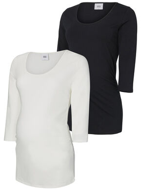 2-PACK JERSEY MATERNITY BLOUSE