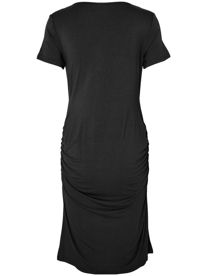 JERSEY NURSING DRESS, SHORT, Black, large