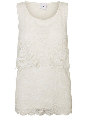 LACE NURSING TOP, SLEEVELESS