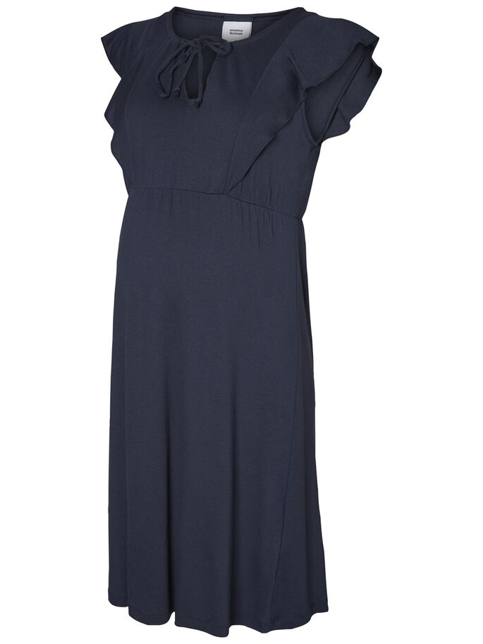 JERSEY MATERNITY DRESS, Blue Nights, large