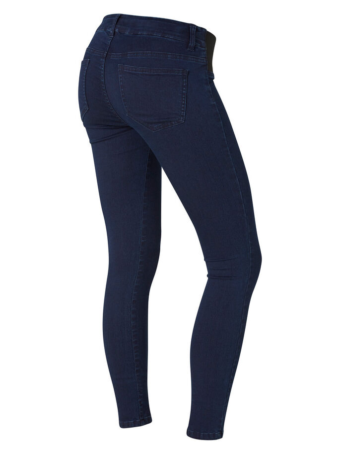 SKINNY MATERNITY JEANS, Dark Blue Denim, large