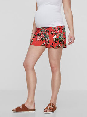 PATTERN DETAILED MATERNITY SHORTS