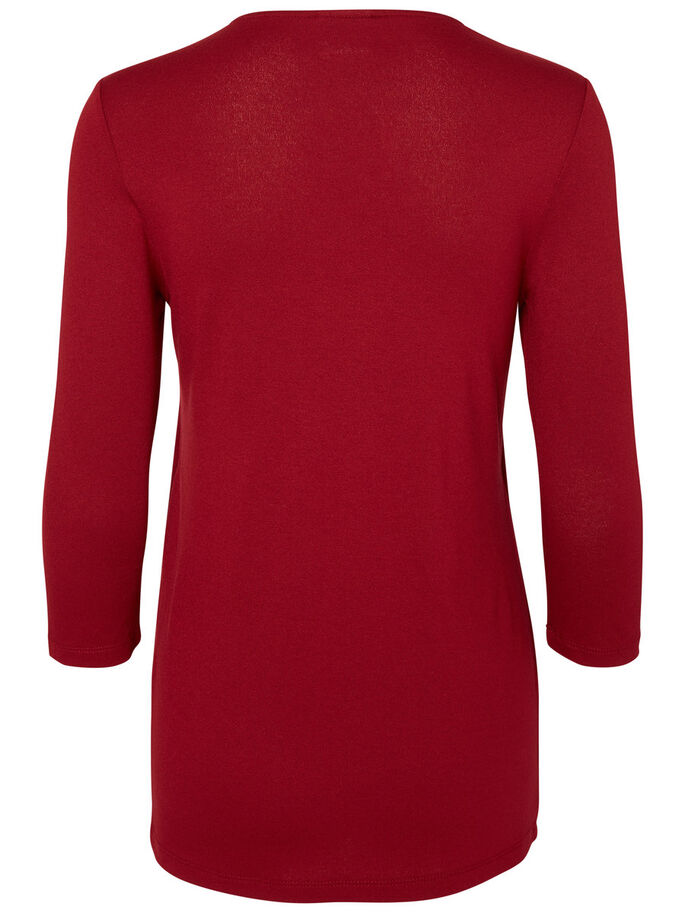 JERSEY NURSING TOP, 3/4 SLEEVED, Biking Red, large
