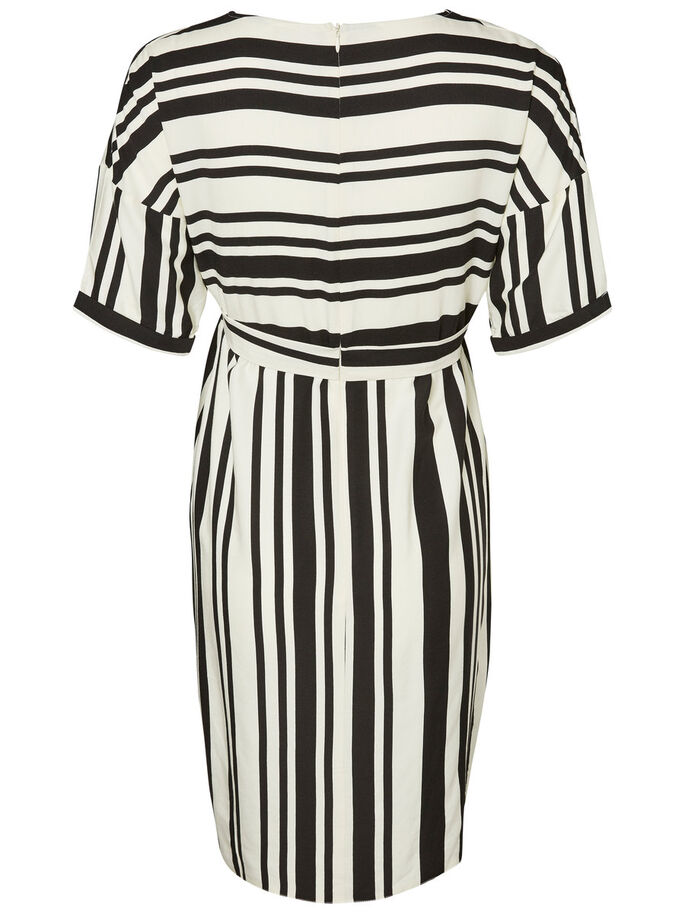 STRIPED MATERNITY DRESS, Snow White, large