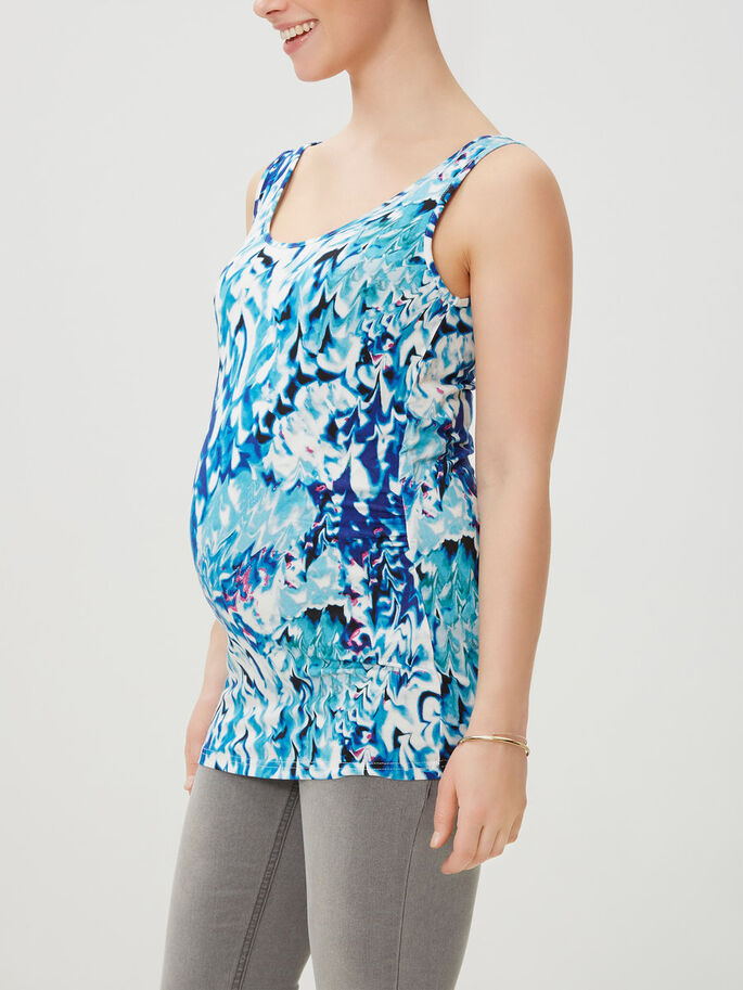 PRINTED MATERNITY TOP, SLEEVELESS, Snow White, large