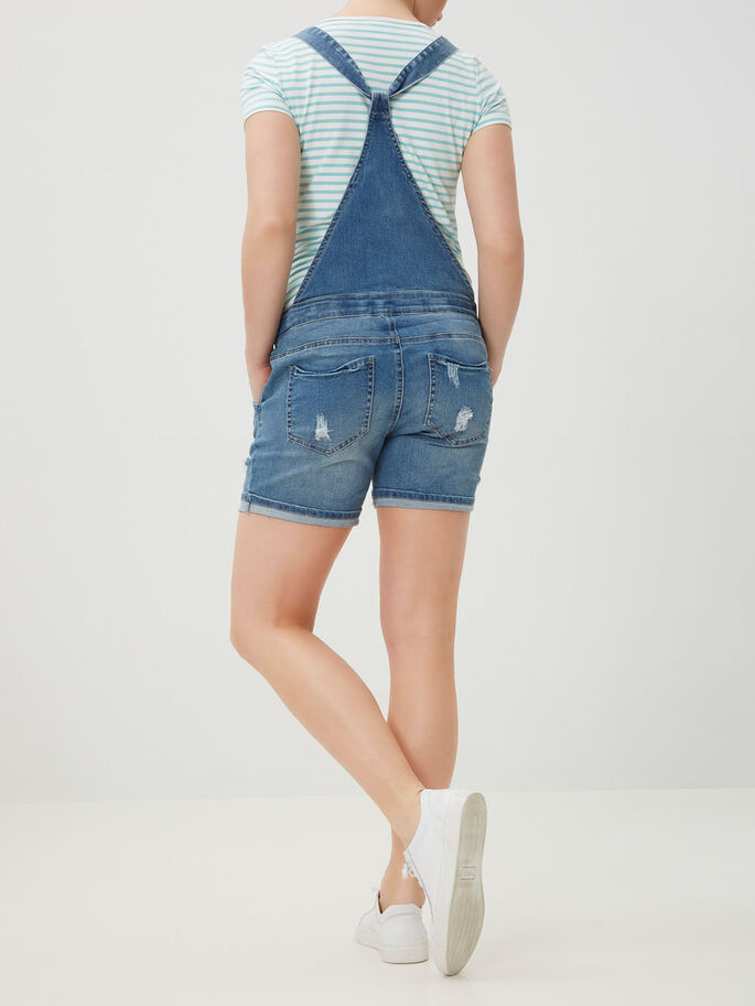 DENIM OVERALL, Medium Blue Denim, large
