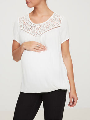WOVEN MATERNITY TOP