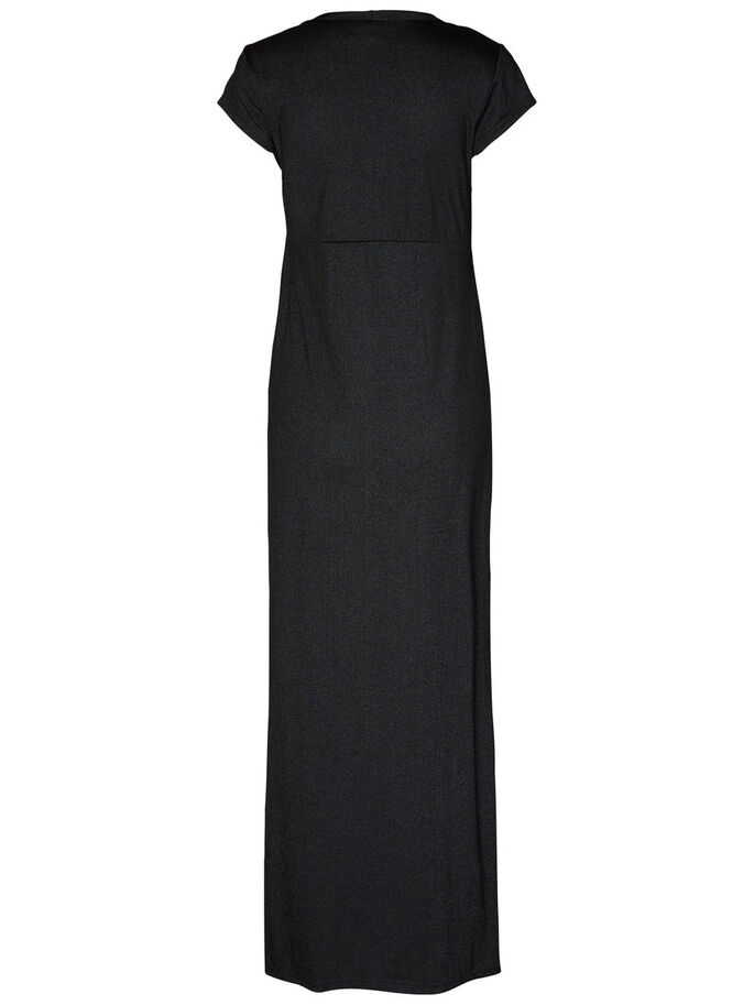 JERSEY NURSING MAXI DRESS, Black, large