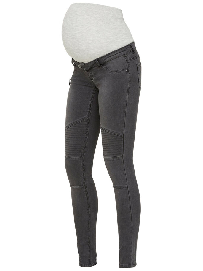 SKINNY ZWANGERSCHAPSJEANS, Dark Grey Denim, large
