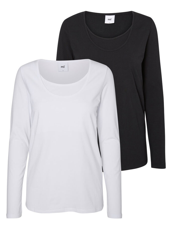 2-PACK NURSING TOP, LONG SLEEVED, Black, large