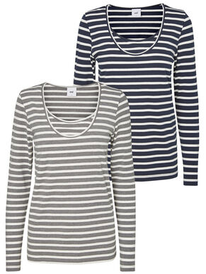 2-PACK JERSEY NURSING TOP, LONG SLEEVED