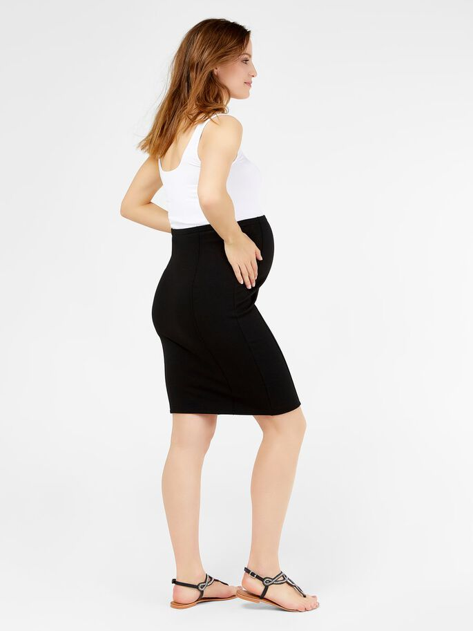 PENCIL MATERNITY SKIRT, SHORT, Black, large