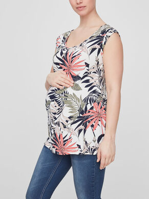PATTERN DETAILED MATERNITY TOP