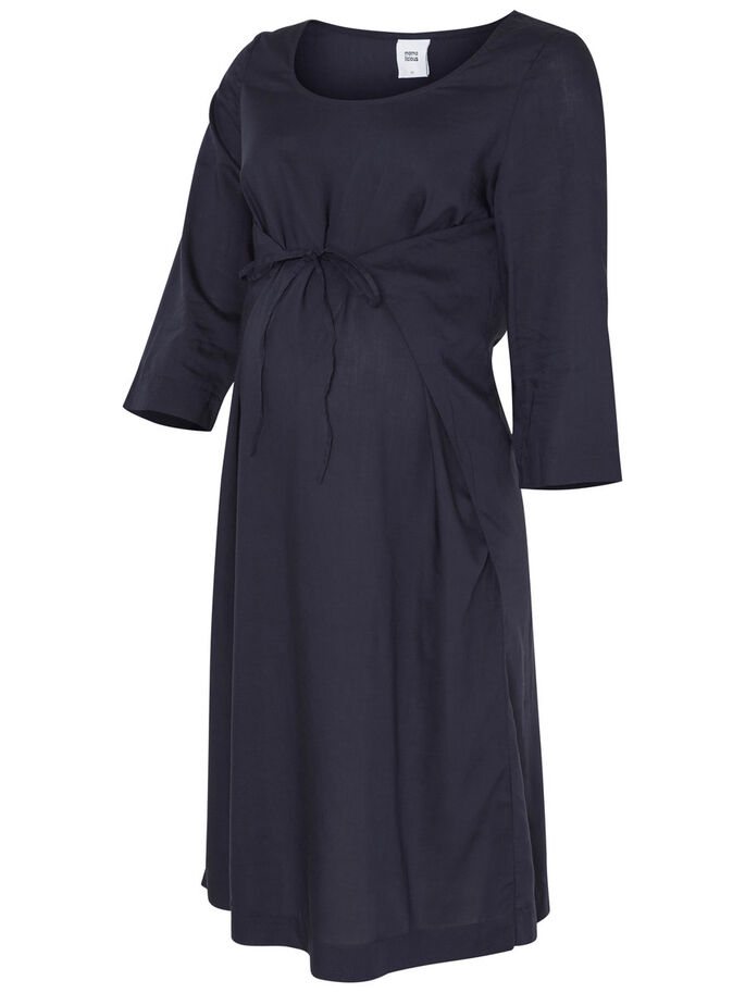 WOVEN DRESS, Navy Blazer, large