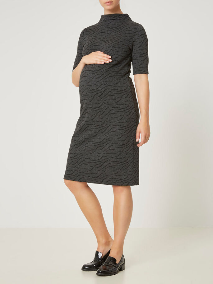 2/3 MATERNITY DRESS, Black, large