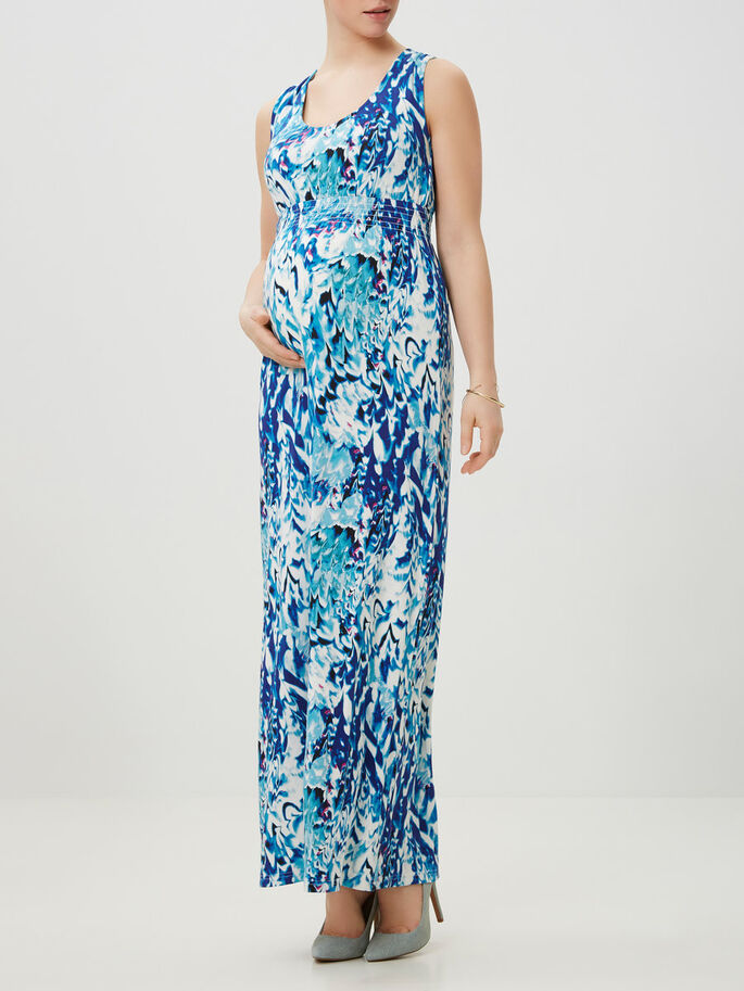 PRINTED MAXI DRESS, Snow White, large