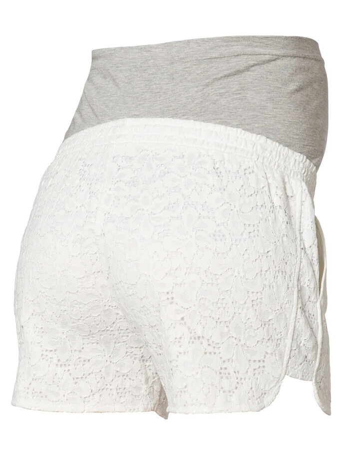 LACE FRONT MATERNITY SHORTS, Snow White, large