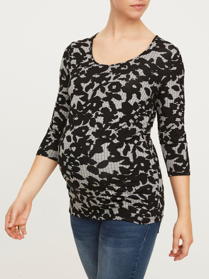 JERSEY MATERNITY TOP, Snow White, large