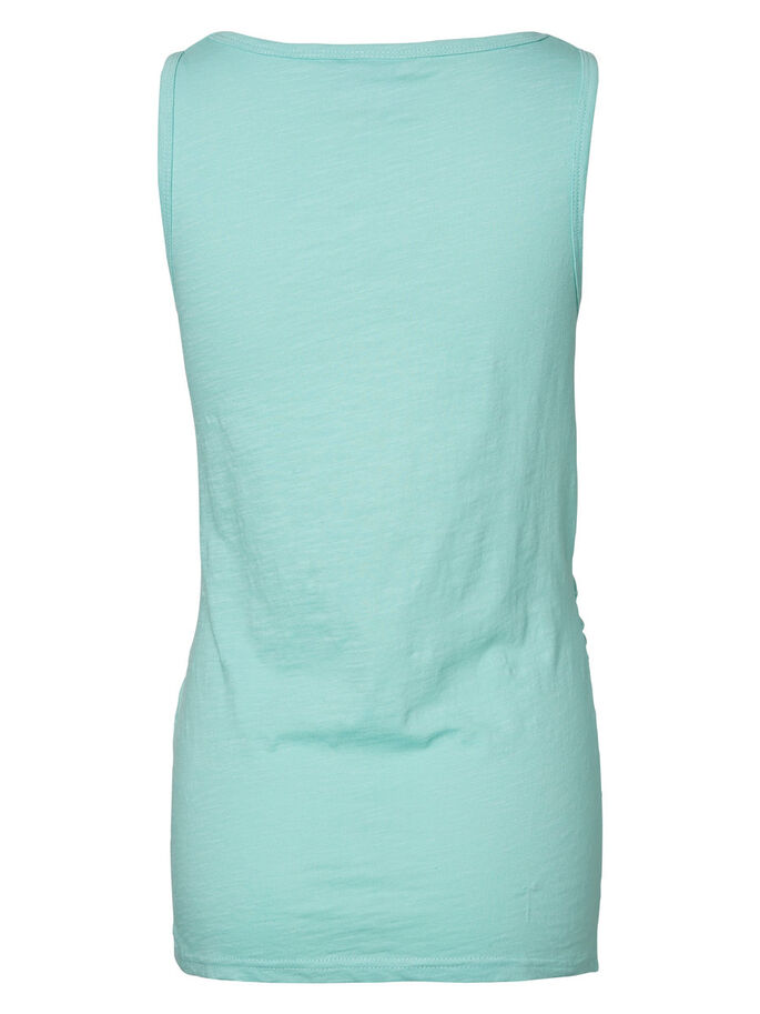 JERSEY MATERNITY TOP, SLEEVELESS, Aqua Haze, large