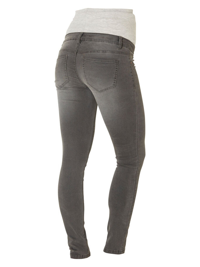 SKINNY MATERNITY JEANS, Grey Denim, large