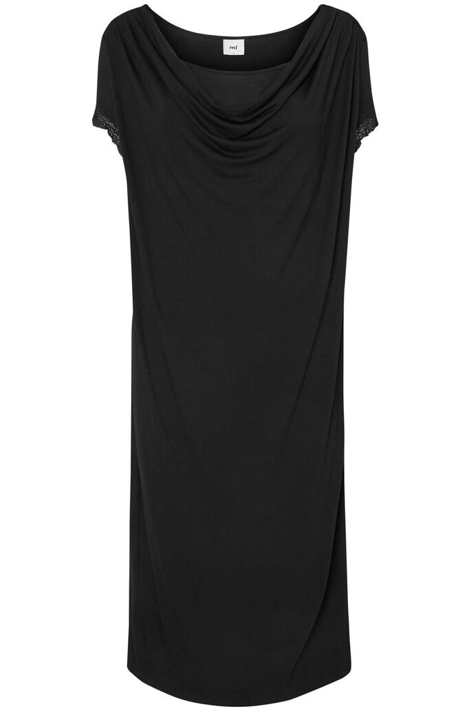 JERSEY- STILL-KLEID, Black, large