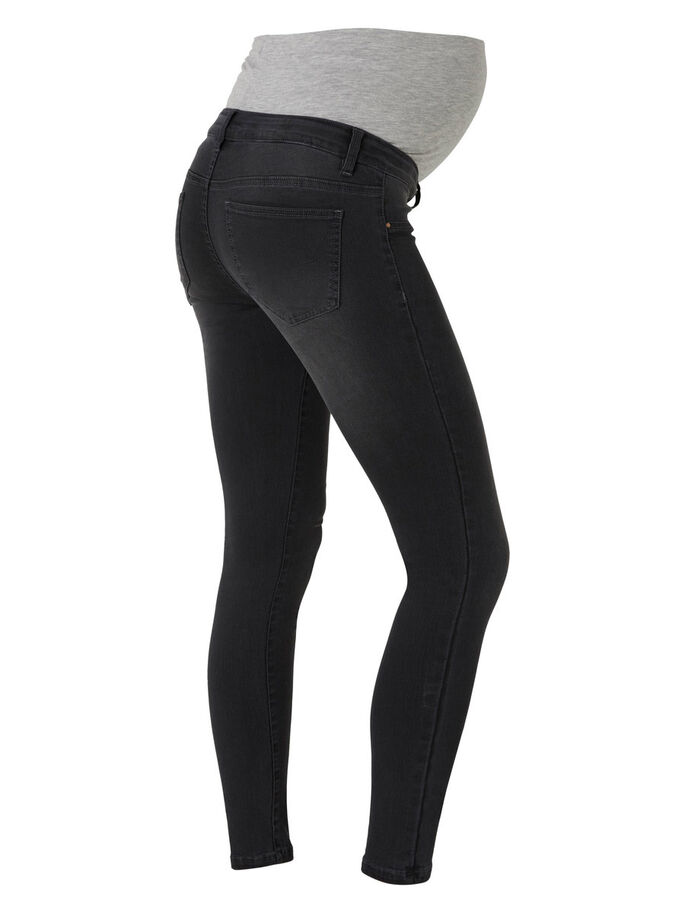 SKINNY MATERNITY JEANS, Dark Grey Denim, large