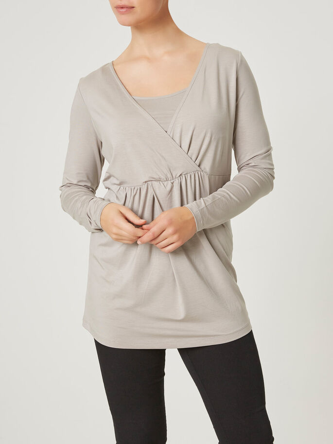 JERSEY NURSING TOP, LONG SLEEVED, Porpoise, large