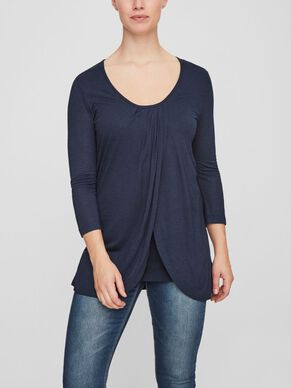DRAPY NURSING TOP, 3/4 SLEEVED