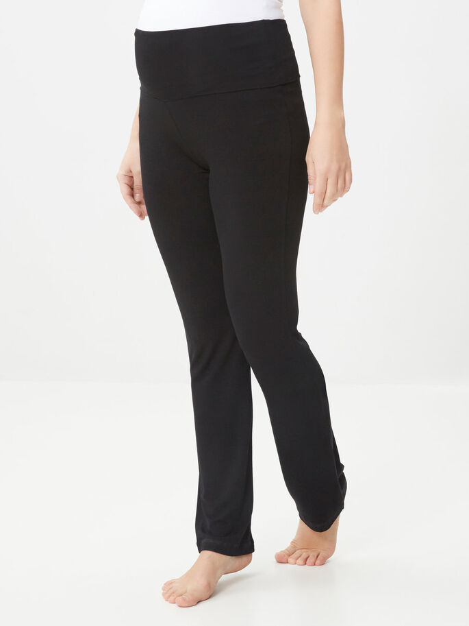 TRAINING MATERNITY PANTS, Black, large