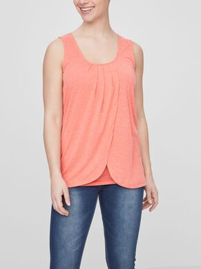 JERSEY NURSING TOP, SLEEVELESS