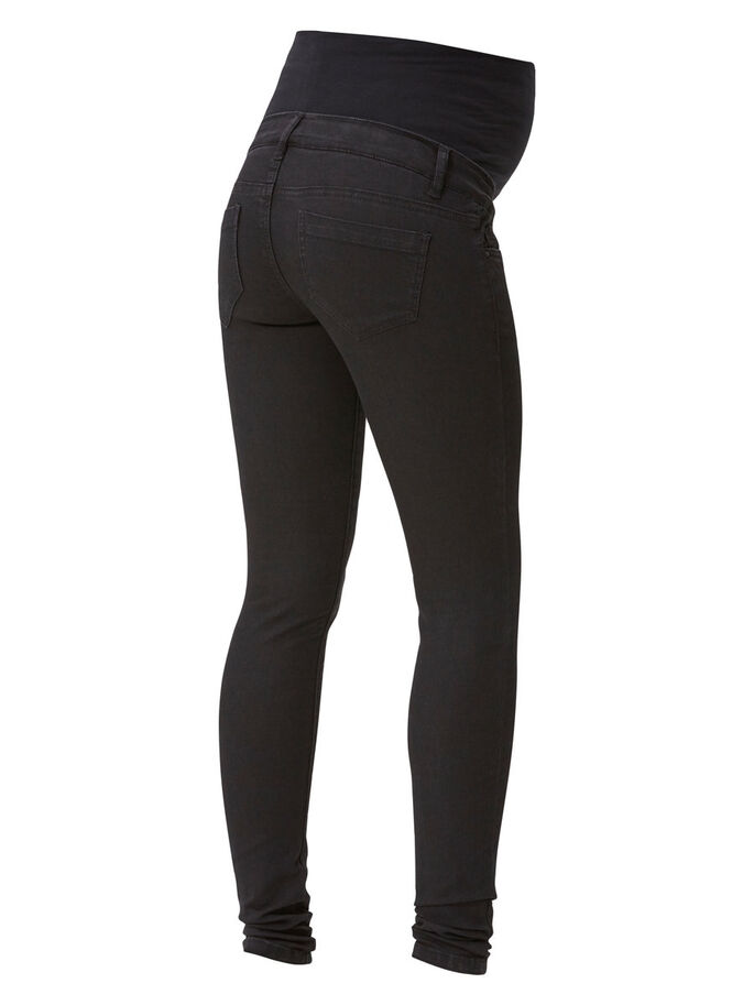 SKINNY MATERNITY JEANS, Black Denim, large