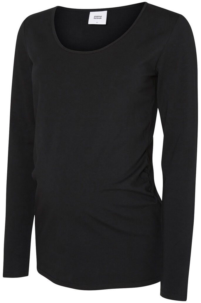 2-PACK MATERNITY TOP, 3/4 SLEEVED, Black, large