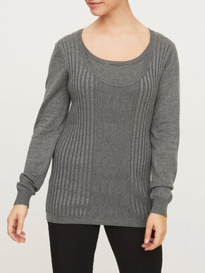 KNITTED NURSING BLOUSE, LONG SLEEVED