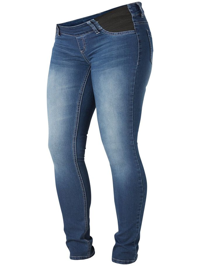 SKINNY MATERNITY JEANS, Medium Blue Denim, large