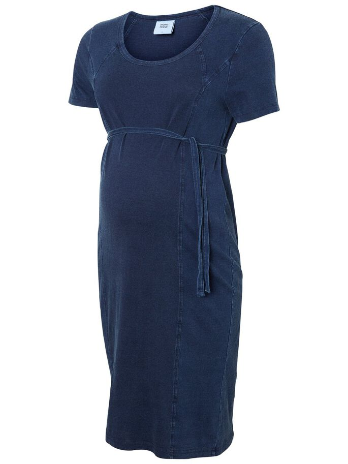 JERSEY ROBE GROSSESSE, Dark Blue Denim, large