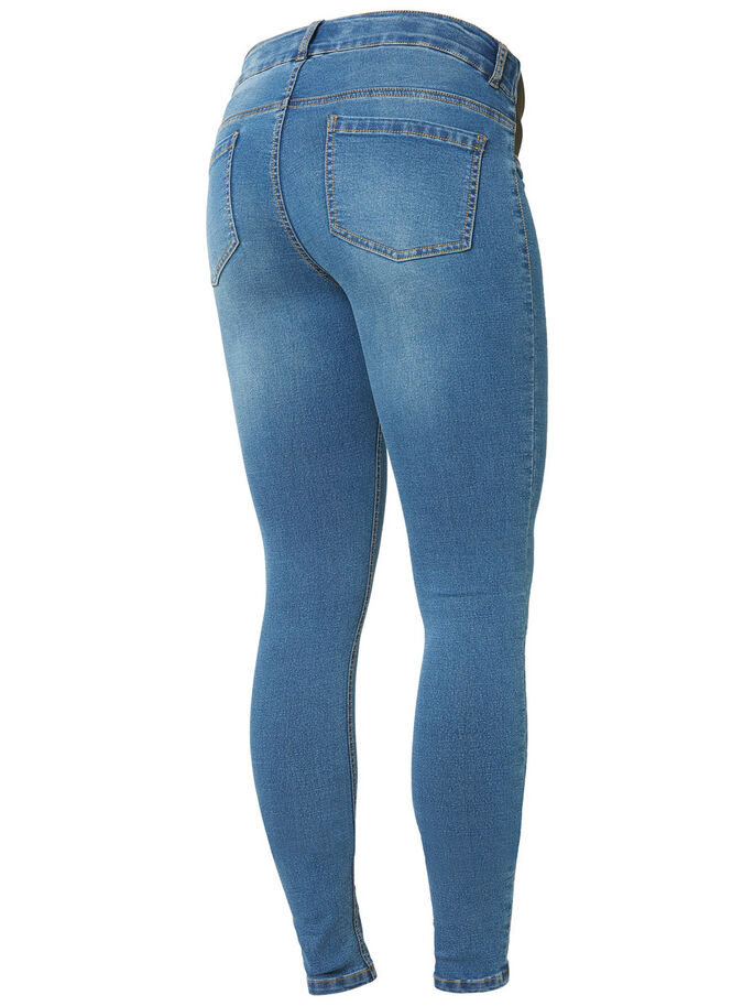 SKINNY MATERNITY JEGGINGS, Blue Denim, large