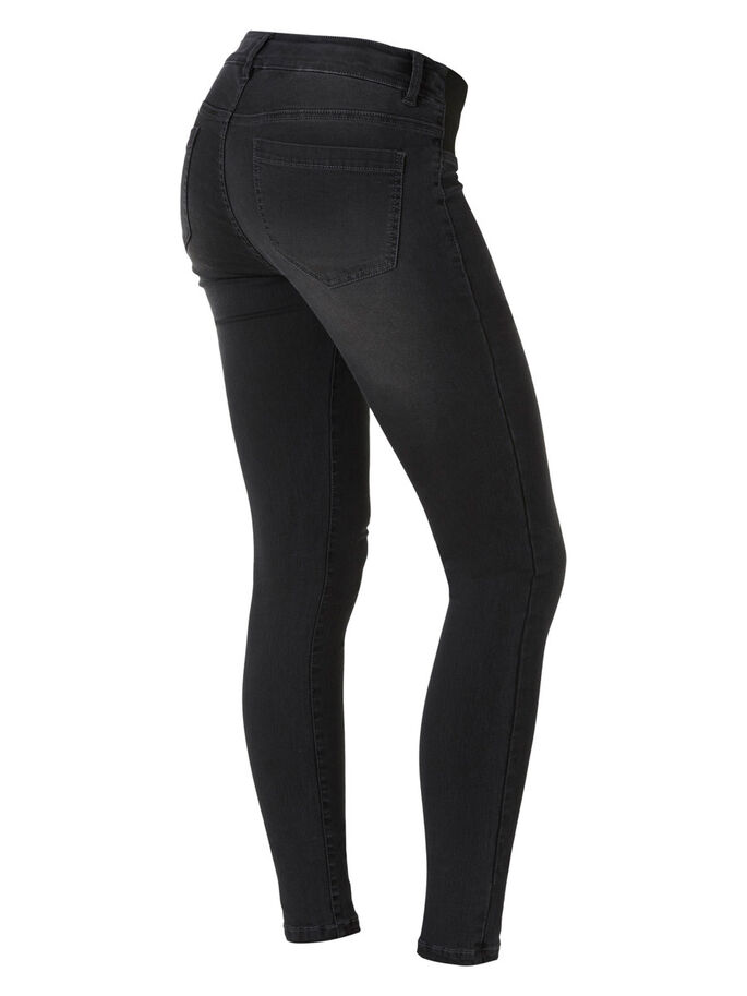 SKINNY MATERNITY JEGGINGS, Dark Grey Denim, large