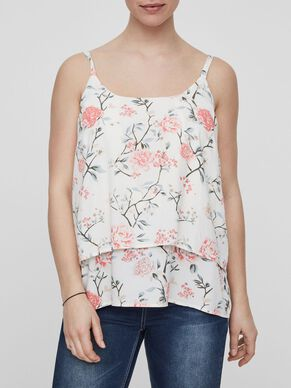 FLOWER PRINTED NURSING TOP, SLEEVELESS