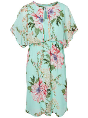 FLOWER PRINTED NURSING DRESS