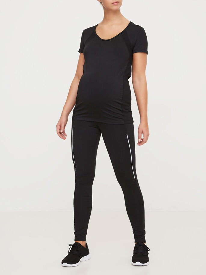 ACTIVE MATERNITY TOP, Black, large