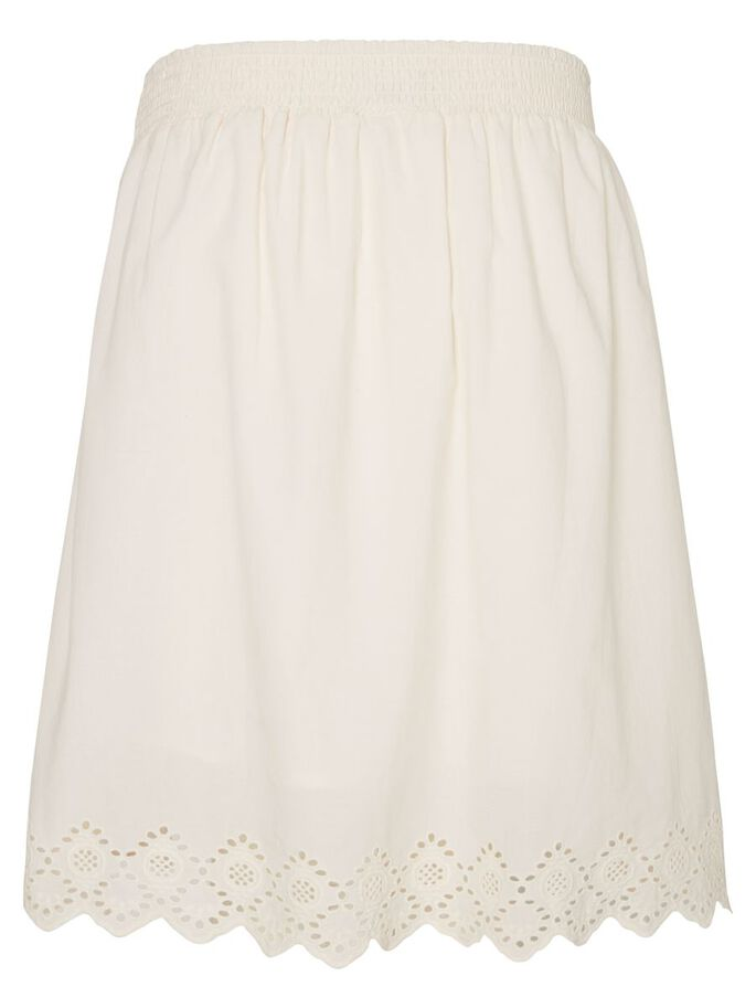 WOVEN MATERNITY SKIRT, SHORT, Antique White, large
