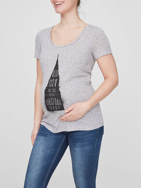 FRONT PRINTED MATERNITY TOP