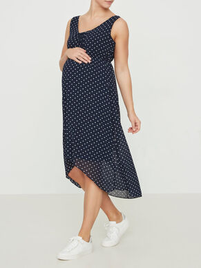 HIGH-LOW MATERNITY DRESS