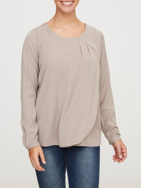 WOVEN NURSING TOP, LONG SLEEVED