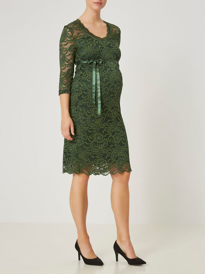 LACE MATERNITY DRESS, Sycamore, large