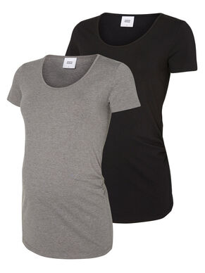 2-PACK MATERNITY TOP, SHORT SLEEVED