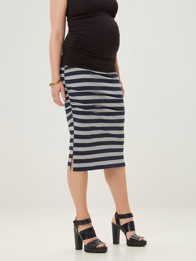 JERSEY MATERNITY SKIRT, SHORT, Colony Blue, large
