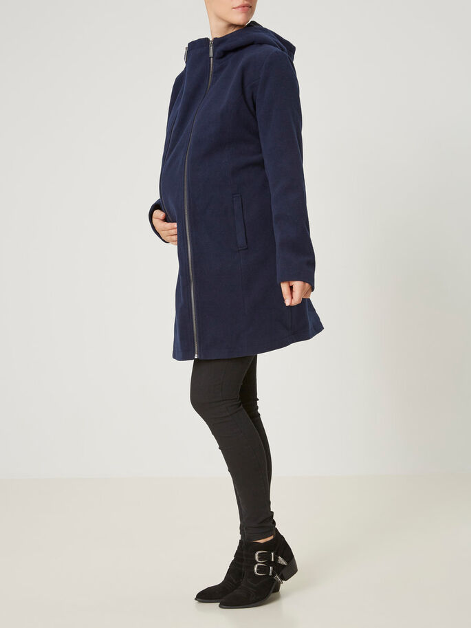 2-IN-1 JACKET MATERNITY JACKET, Navy Blazer, large