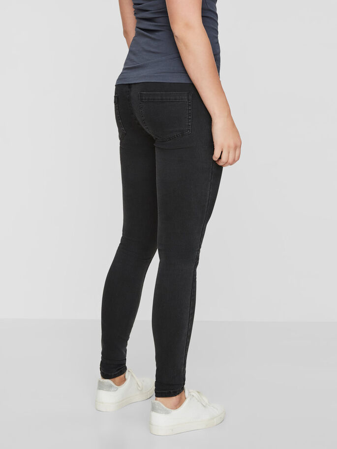 POST-PREGNANCY SKINNY JEANS, Dark Grey Denim, large